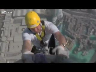 Монтажники высотники Burj Khalifa